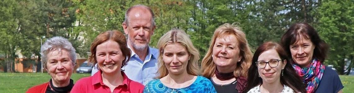 Zleva: Milena Cvikrová, Lucie Fischerová, Martin Vágner, Lenka Gemperlová, Zuzana Vondráková, Jana Pavlíčková, Kateřina Eliášová. Na snímku chybí Jana Kališová a Jarka Špačková